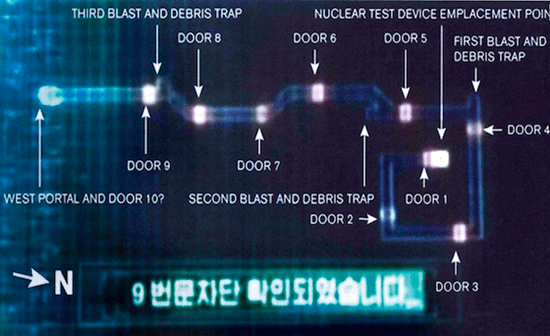 Map of North Korea's nuclear test facility