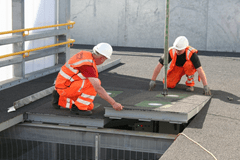 Installation of Pagegen System electricity generating rubber tiles