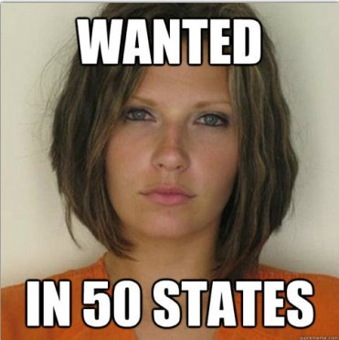 Attractive Convict - Wanted - in 50 states