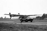 """AVE Mizar """"Flying Pinto"""" on the runway"""