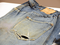 Levi's world's oldest pair of blue jeans