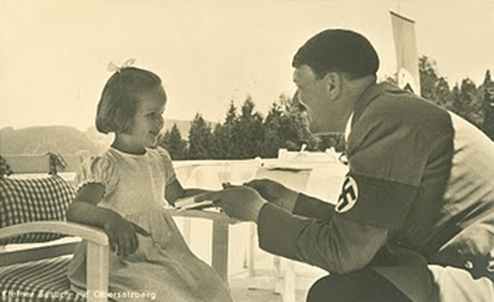 Hitler always looked creepy when he was with kids