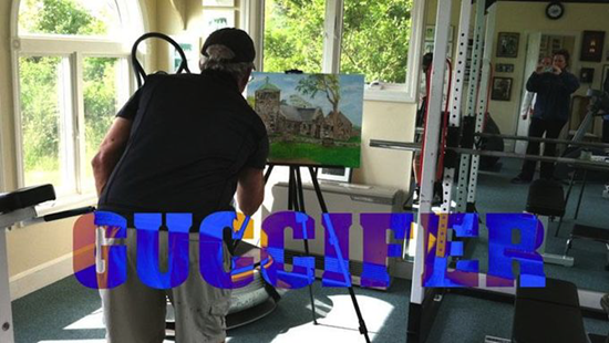 Guccifer watermarked photo of George Bush painting