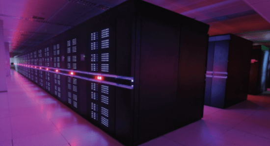 Tianhe-2 supercomputer - light color changes indicating processor speed