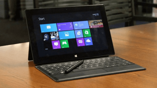 Microsoft Surface RT Tablet and keyboard cover
