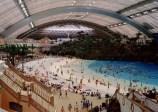 Artificial beach inside the New Century Global Center