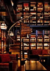 Beautiful library full of books