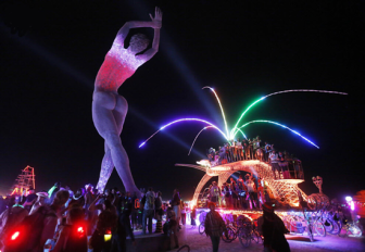 The lights at Burning Man 2013