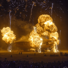 What else would you expect at a Burning Man event? Fire!