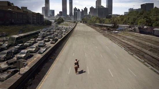 Digital processing in The Walking Dead