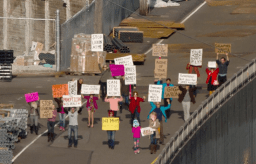 Funny protestors in Seattle Interactive Gigapixel image