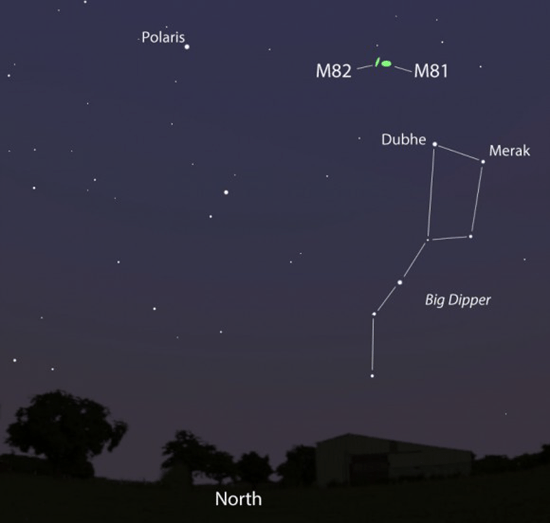 Finding M82 in the night sky