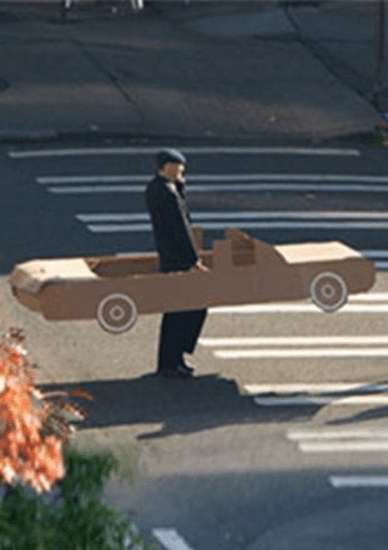Funny man in car - Microsoft'f Gigapixel Seattle image