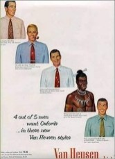 Van Heusen is no stranger to racist and sexist advertisements