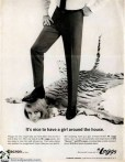This Leggs ad says It's nice to have a woman around the house