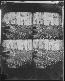 Original four-panel photo fron National Archives - is this Lincoln's funeral dirge?