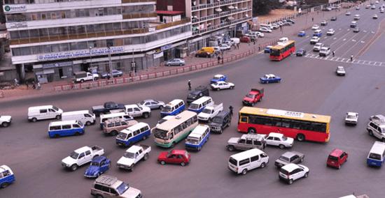 Insane traffic in Ethiopia