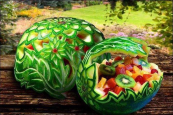 Cool melon carvings