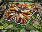 Vegetable display forms a huge butterfly