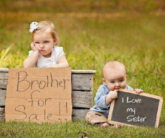 Funny signs - brother for sale and I love my sister
