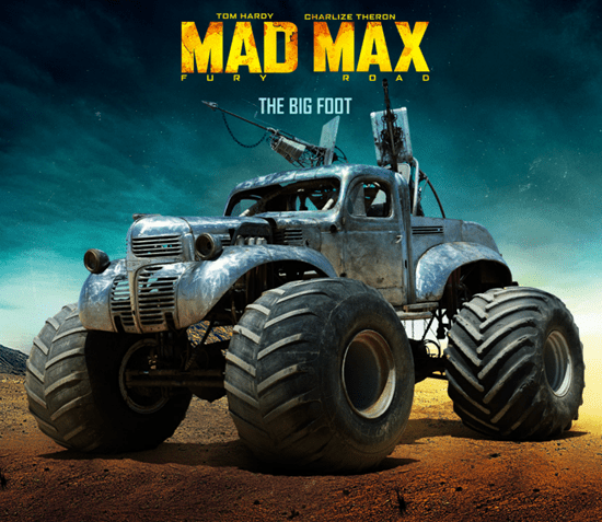 Rictus Erectus's Bigfoot car from Mad Max: Fury Road