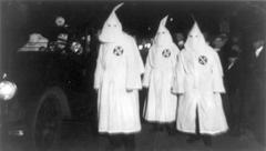 Ku Klux Klan members in a 1922 parade