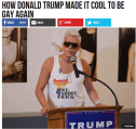 Real Breitbart headling: How Donald Trump made it cool to be gay again