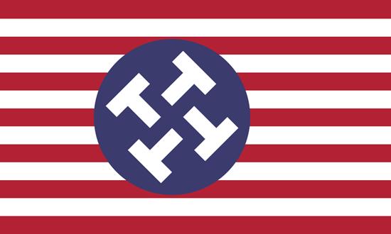 Donald Trump Nazi logo