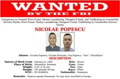 FBI wanted poster for Romanian Nicolae Popescu