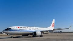 Canada Air Boeing 737 Max 8 airplane