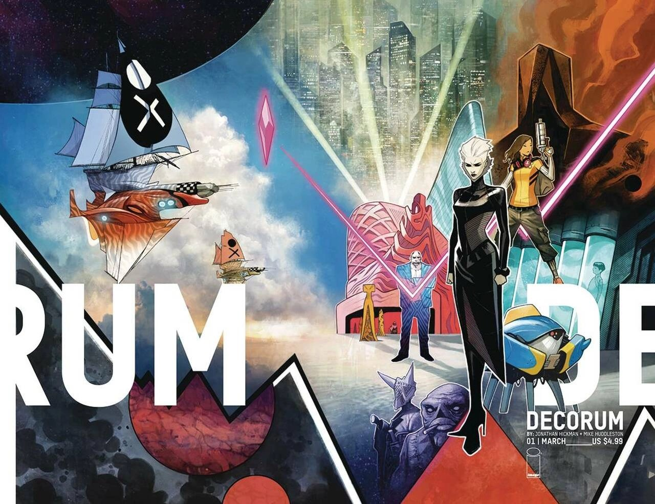 Decorum - wraparound cover by Mike Huddleston (Image)