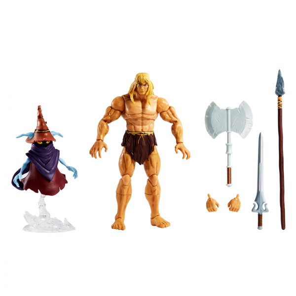 Masters of the Universe Revelation Savage He-Man with Orko
