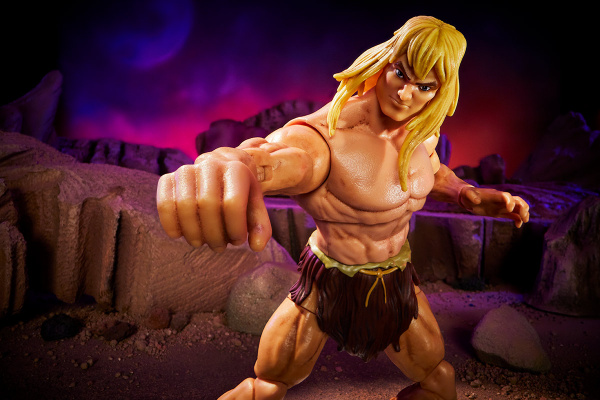 Masters of the Universe Revelation Savage He-Man with Orko - punching