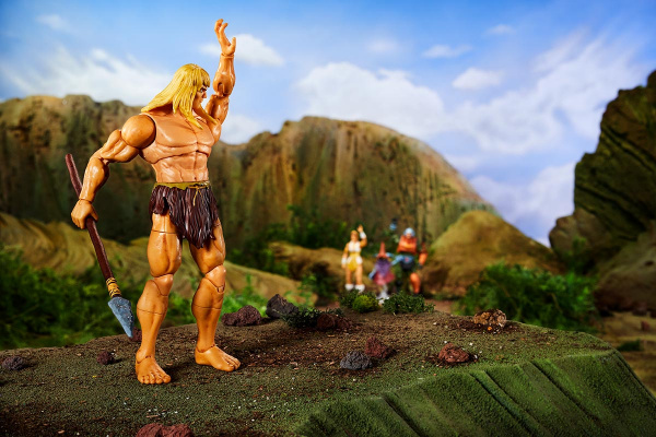 Masters of the Universe Revelation Savage He-Man with Orko - waving