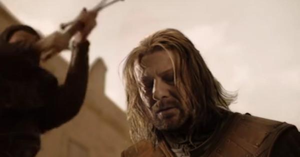 Lord Eddard Stark en la primera temporada en Game of Thrones (2011)