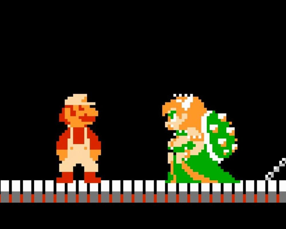 Mario meets Bowsette