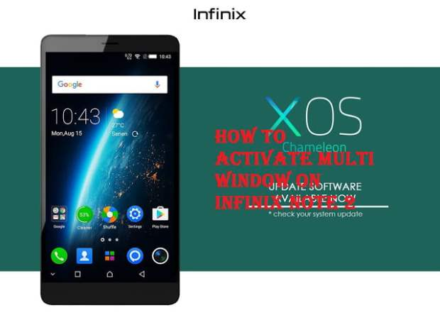 How to activate multi window on infinix note 2