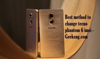 how to change tecno phantom 6 imei
