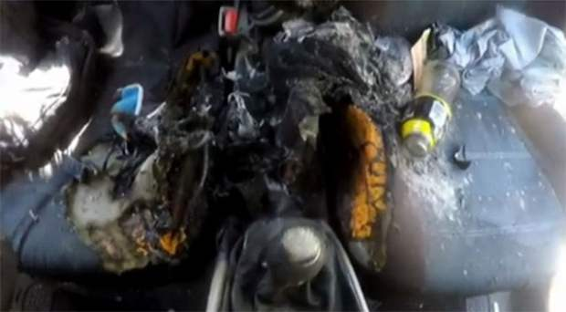 iphone explodes in car