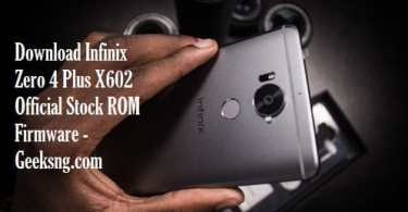 Download Infinix Zero 4 Plus X602 Official Stock ROM Firmware