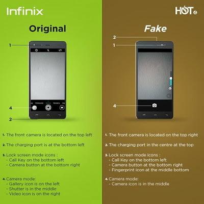 Fake Infinix Hot 4