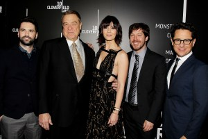 "EXCLUSIVE - New York, NY - 3/8/16 -Paramount Pictures Presents The Premiere of ""10 Cloverfield Lane"" . the Film stars John Goodman, Mary Elizabeth Winstead, John Gallagher Jr .and was Produced by J.J. Abrams ,10 Cloverfield Lane will open nation wide on March 3rd 2016 ..-PICTURED: Dan Trachtenberg,John Goodman, Mary Elizabeth Winstead,John Gallagher Jr, J.J. Abrams.-PHOTO by: Dave Allocca/Starpix.-FILENAME: DA_16_3675.JPG.-LOCATION: AMC Loews Lincoln Square 13"