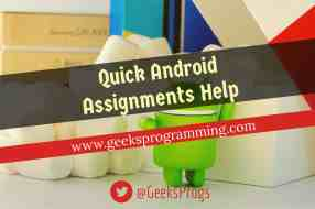 quick urgent android programming assignment help
