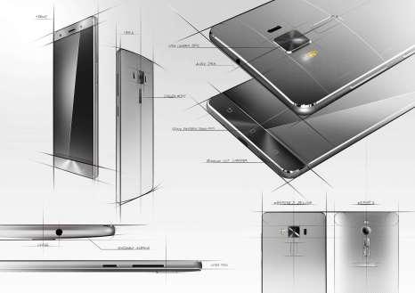 Zenfone 3 Deluxe Design Sketch