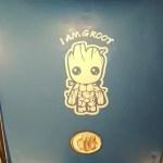 Cartoon I am Groot car decal waterproof reflective universal body sticker vinyl warning sticker motorcycle sticker car shape 2 colors photo review