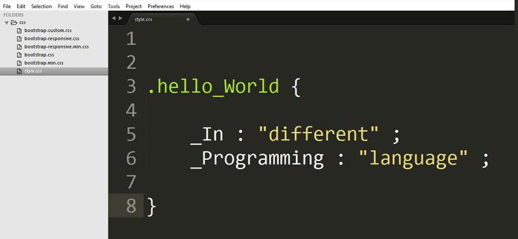 Hello World In Different Programming Language