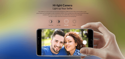 Oppo F1 Plus 16MP Camera Features