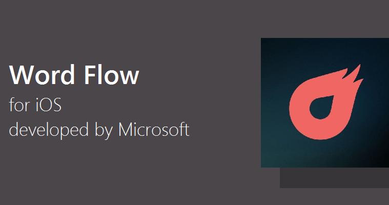 Microsoft Word Flow keyboard