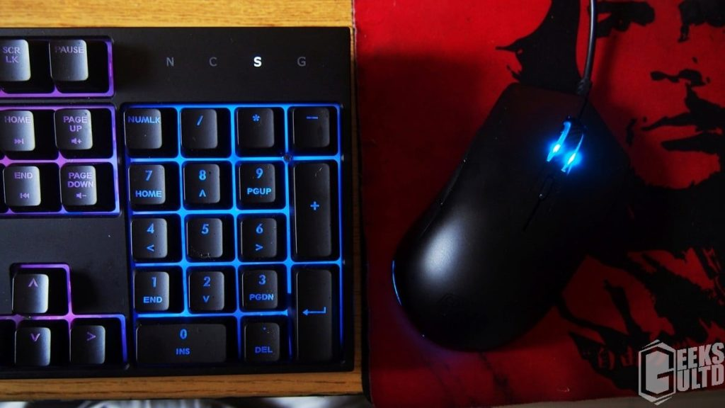 Top View On The Cooler Master MasterKeys Lite L Combo