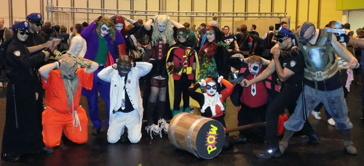 Group of DC Comics Cosplayers